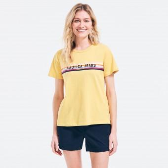 Μπλούζα Μακό | Κοντομάνικη | Κίτρινη