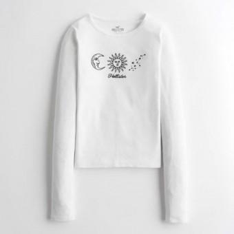 Μπλούζα Γυναικεία | Μακρυμάνικη | Logo | Λευκή