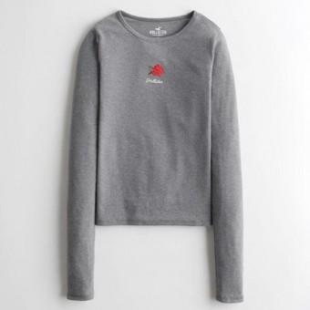Μπλούζα Γυναικεία | Μακρυμάνικη | Logo | Γκρι