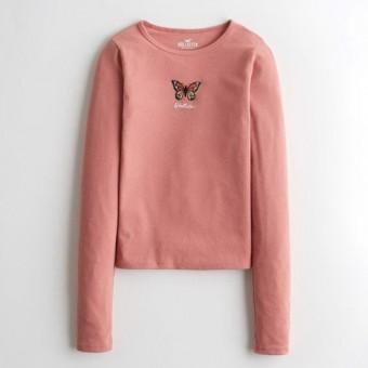 Μπλούζα Γυναικεία | Μακρυμάνικη | Logo | Ροζ