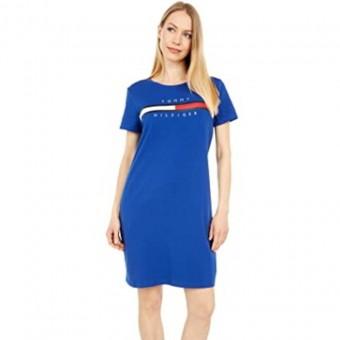 Φόρεμα | Κοντομάνικο | Logo | Γαλάζιο