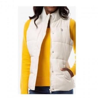 Αμάνικο Μπουφάν Γυναικείο   US Polo Assn   Αδιάβροχο   Εκρού