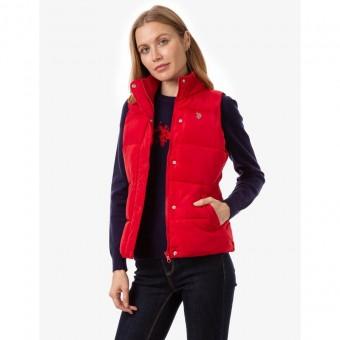 Αμάνικο Μπουφάν Γυναικείο   US Polo Assn   Αδιάβροχο   Κόκκινο