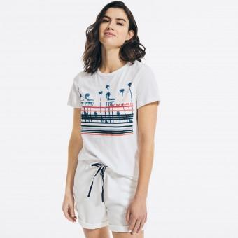 Μπλούζα Μακό Κοντομάνικη | Λευκό | Sustainably Graphic T-shirt | Νο Large