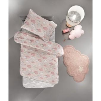 Παπλωματοθήκη παιδική με μαξιλαροθήκη   Cloudy Pink   165x225