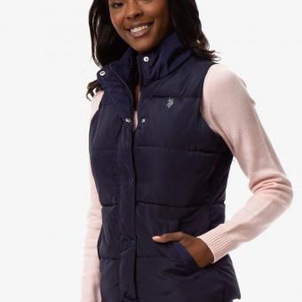 Αμάνικο Μπουφάν Γυναικείο   US Polo Assn   Αδιάβροχο   Μπλε