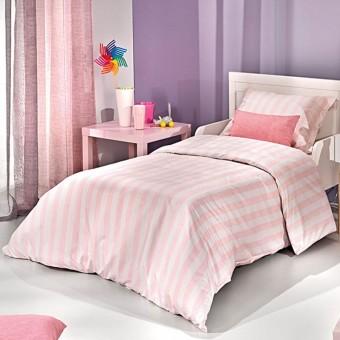 Παπλωματοθήκη παιδική Pink Stripes   160x220
