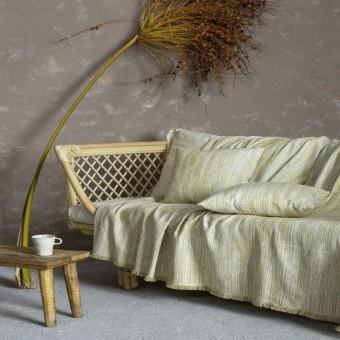 Ριχτάρι τριθέσιου καναπέ βαμβακερό   Sombre Green   180x300