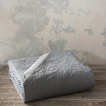 Κουβερλί μονό | Foglie Graphite - Gray | 160x240