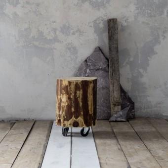Ξύλινος κορμός με ροδάκια | 35x40
