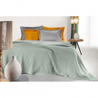 Κουβέρτα πικέ υπέρδιπλη Eternity Aloe | 230X240