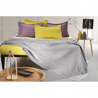 Κουβέρτα πικέ υπέρδιπλη Eternity Silver | 230X240