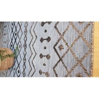 Χαλί Ψάθινο NS Carpets | Viana Everest Dark Grey - Black | 150x213