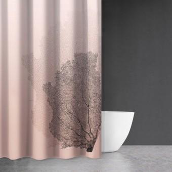 Κουρτίνα μπάνιου | υφασμάτινη αδιάβροχη | 180x200 | Seawater Des 621 Old Pink