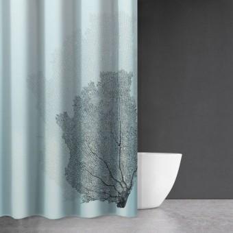 Κουρτίνα μπάνιου | υφασμάτινη αδιάβροχη | 180x200 | Seawater Des 621 Sky