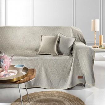 Ριχτάρι τριθέσιου καναπέ βαμβακερό   Diamond Golden   180x300