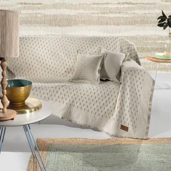 Ριχτάρι διθέσιου καναπέ βαμβακερό   Diamond Linen   180x250