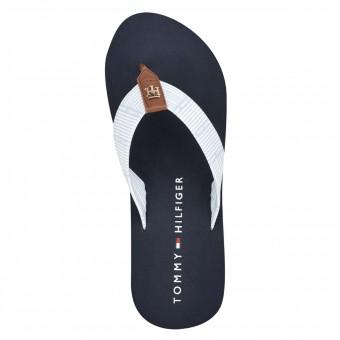 Σαγιονάρες Γυναικείες | Tommy Hilfiger Caprise Stripe Thong  | Logo | Ριγέ | Δίχρωμες