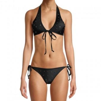 Γυναικείο μαγιό Juicy Couture Nailhead Two-Piece Wrap | Μαύρο | JCQG-458 BLACK