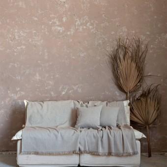 Ριχτάρι διθέσιου καναπέ βαμβακερό   Illusie Beige   180x240