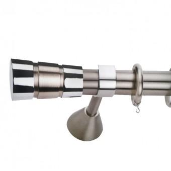 Κουρτινόξυλο μεταλλικό   nikel ματ Φ35   Αμοργός