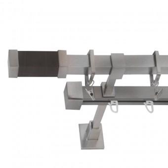 Κουρτινόξυλο - σιδηρόδρομος μεταλλικό   nikel ματ Φ20   Σύβοτα