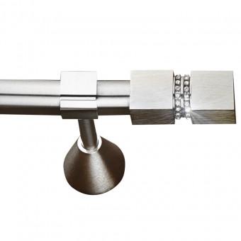 Κουρτινόξυλο μεταλλικό   nikel ματ με strass Φ25   Ερατώ 2